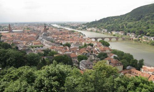 Zdjęcie NIEMCY / Badenia - Wirtembergia / Heidelberg / widok na Neckar