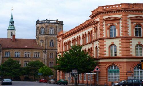 Zdjęcie NIEMCY / Łużyce Górne / Görlitz / Gorlitz - Gimnazjum Augustum i koscioł św. Trójcy
