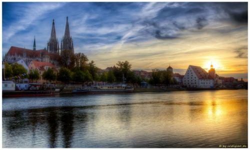 Zdjęcie NIEMCY / Bayern / Regensburg / Am Donauufer