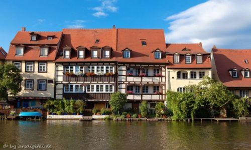 Zdjęcie NIEMCY / Franken / Bamberg / Historische Uferbebauung