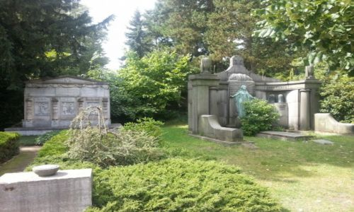 Zdjęcie NIEMCY / Saksonia / Lipsk / park-cmentarz w  Lipsku