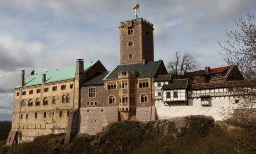 NIEMCY / Turyngia / Eisenach / Zamek Wartburg