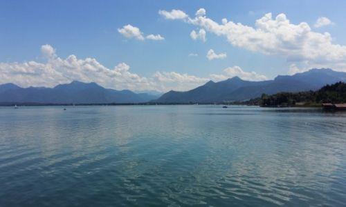 NIEMCY / Bawaria / Wyspa Herrenchiemee / Jezioro Chiemee