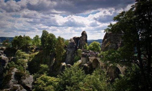 Zdjęcie NIEMCY / Szwajcaria Saksońska / Bastei. / Bastei. Kamienny most.