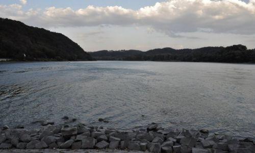 Zdjęcie NIEMCY / Bawaria / Passau / Passau, Dunaj pochłania 2 rzeki