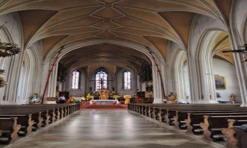Zdjęcie NIEMCY / Bawaria / Bogenberg / Bogenberg, wnętrze kościoła