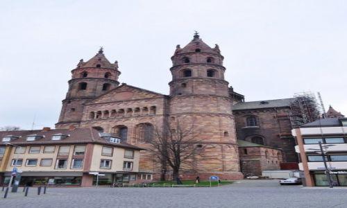 Zdjecie NIEMCY / Pallatynat Nadrenia / Wormacja / Worms, średniowieczna romańska katedra
