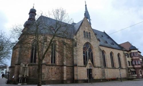 Zdjęcie NIEMCY / Nadrenia-Pallatynat / Bad Bergzabern / Bad Bergzabern, kościół ewangelicki