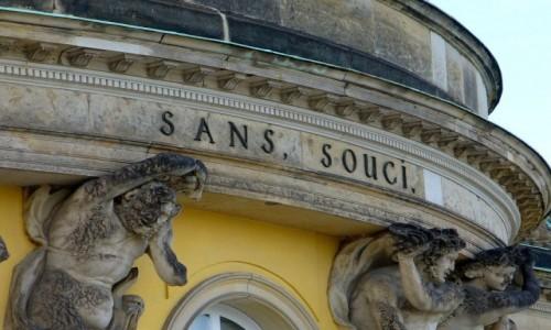 Zdjęcie NIEMCY / Brandenburgia / Poczdam / Park Sans, Souci, pałac na tarasach.