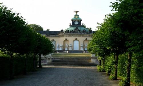 Zdjęcie NIEMCY / Branderburgia / Poczdam park San, Souci / Aleja lipowa