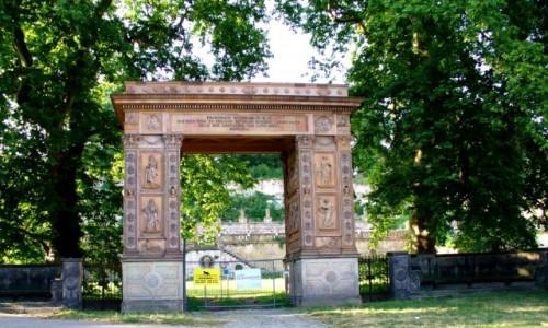 Zdjęcie NIEMCY / Brandenburgia / Poczdam / Ozdobna brama do winnicy