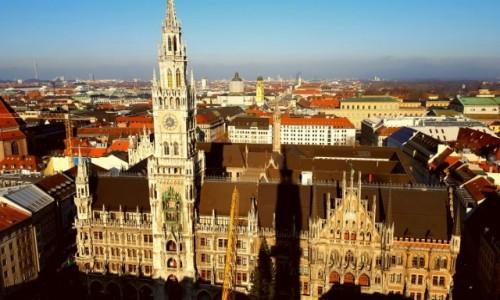 NIEMCY / Bawaria / Monachium / Monachium widziane z wieży