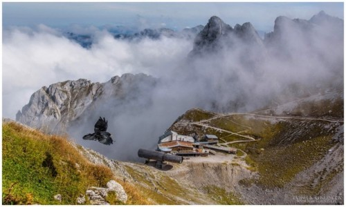 NIEMCY / Bawaria / Północne Alpy Wapienne / Lot nad Karwendel