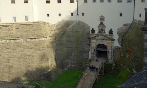 Zdjęcie NIEMCY / Saksonia  / Königstein /   - twierdza -