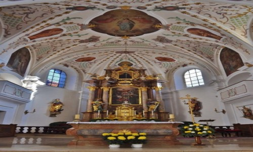 Zdjęcie NIEMCY / Bawaria / Neustadt an der Waldnaab / Neustadt an der Waldnaab, centrum, kościół parafialny