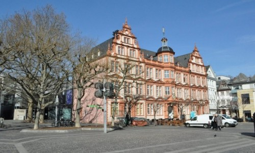 NIEMCY / Nadrenia-Palatynat / Moguncja / Bad Dürkheim, stare miasto, muzeum Gutenberga.