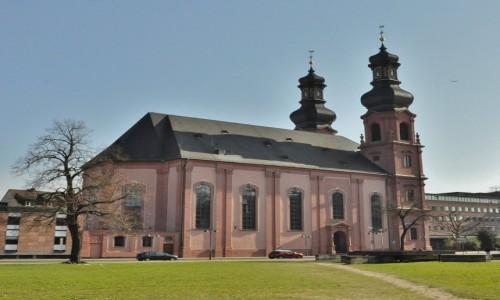 NIEMCY / Nadrenia-Palatynat / Moguncja / Bad Dürkheim, kościół barokowy