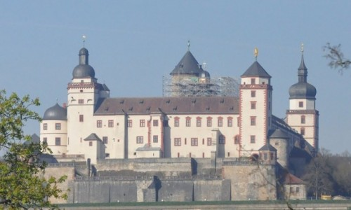 Zdjęcie NIEMCY / Frankonia / Wurzburg / Wurzburg, widok na zamek z rezydencji