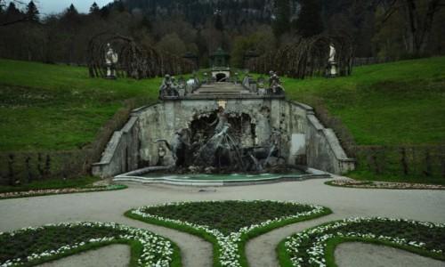 Zdjecie NIEMCY / Bawaria / Linderhof / Konie