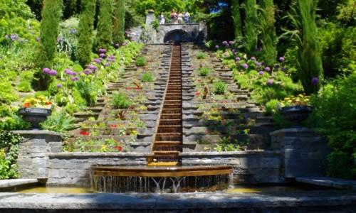 Zdjęcie NIEMCY / Badenia Wirtembergia / Mainau  / - Kaskada wody i kwiatów -