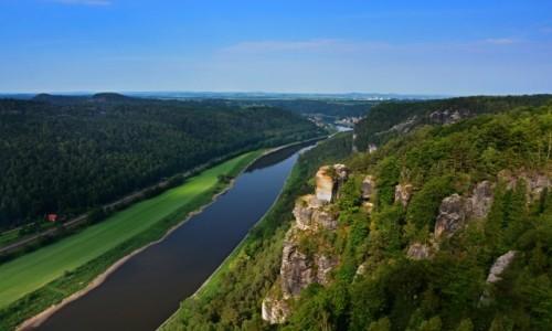 Zdjecie NIEMCY / Saksonia / Bastei / Łaba widok z Bastei