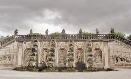NIEMCY / Dolna Saksonia / Hanower / Barokowa fontanna