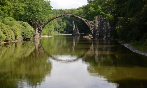 Zdjecie NIEMCY / - / Kromlau - Park Rododendronów / Most łukowy