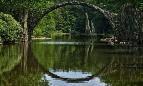 Zdjęcie NIEMCY / Saksonia / Kromlau / Most Rakoczego