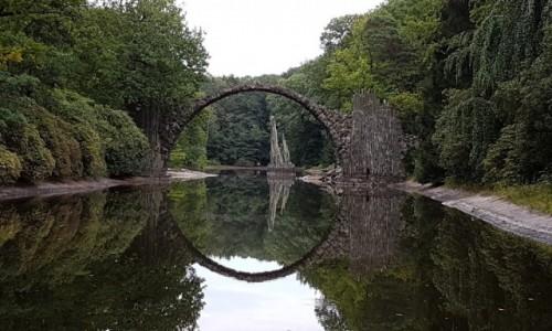Zdjecie NIEMCY / Saksonia  / Kromlau / Most Rakocza zwany Mostem Diabła