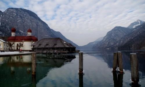 Zdjecie NIEMCY / Bawaria Dolna ( Niederbayern ) / Schönau am Königssee / - Jezioro Królewskie- Bawaria
