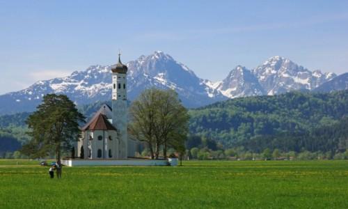 Zdjecie NIEMCY / Bawaria / Schwangau / Wiosna w Alpach