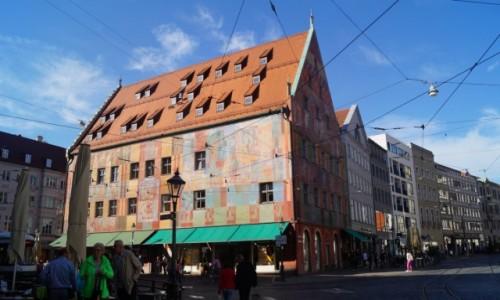 Zdjecie NIEMCY / Bawaria / Augsburg / Kolorowy ratusz