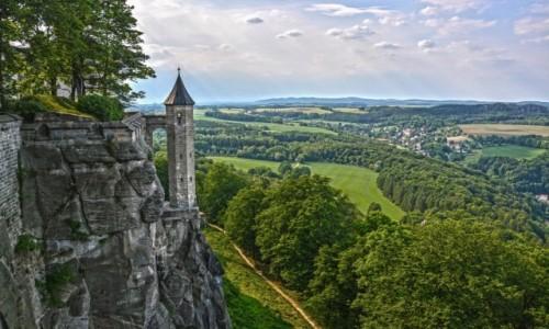 Zdjecie NIEMCY / Saksonia / Königstein / Twierdza Königstein