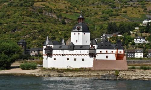 Zdjecie NIEMCY / Dolina Renu / Kaub / Kaub, zamek na wyspie