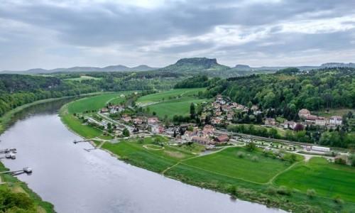 NIEMCY / Szwajcaria Saksońska / Pirna / Jeszcze panorama