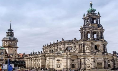 NIEMCY / Saksonia / Drezno / Front Katedry Św. Trójcy