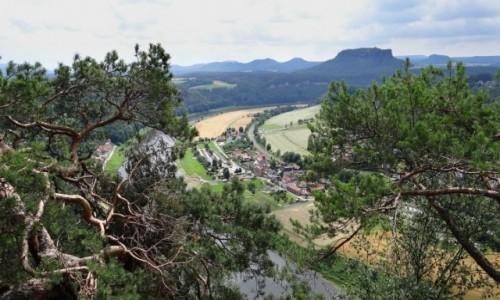 NIEMCY / Sachsen / Bastei / Widok na Stadt Wehlen