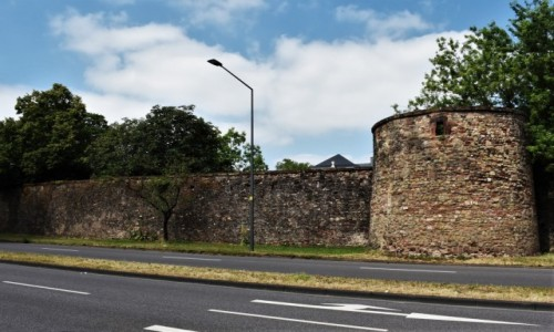 Zdjecie NIEMCY / Nadrenia Pallatynat / Trewir / Trewir, mury miejskie, fragment
