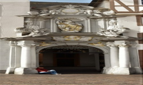 Zdjecie NIEMCY / Nadrenia Pallatynat / Trewir / Trewir, elementy dekoracyjne kamienic
