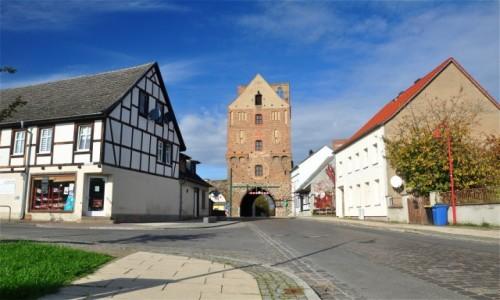 Zdjęcie NIEMCY / Brandenburgia / Gartz (Oder) / Brama Szczecińska (Stettiner Tor) w Gartz