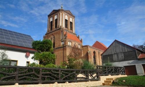 Zdjęcie NIEMCY / Brandenburgia / Gartz (Oder) / Kościół św Szczepana w Gartz (Oder)