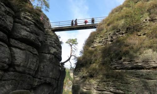 NIEMCY / Saksońska Swajcaria / Basteibrücke / skalne szlaki