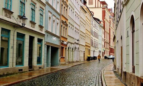 NIEMCY / Saksonia / Goerlitz / Uliczki Starego Miasta