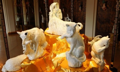 Zdjęcie NIEMCY / Saksonia / Drezno / Zwinger - kolekcja porcelany miśnieńskiej