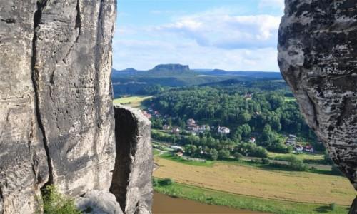 NIEMCY / Saksonia / Rathen / Saksońskie krajobrazy