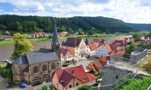 Zdjecie NIEMCY / Saksonia / Stadt Wehlen / Widok na Stadt Wehlen