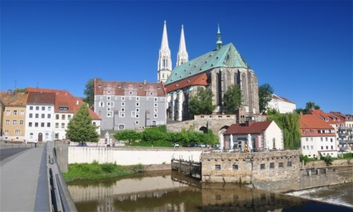 NIEMCY / Saksonia / Goerlitz / Widok na Görlitz