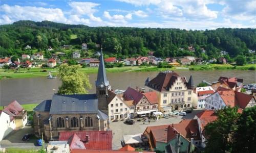 Zdjecie NIEMCY / Saksonia / Stadt Wehlen / Urok Stadt Wehlen