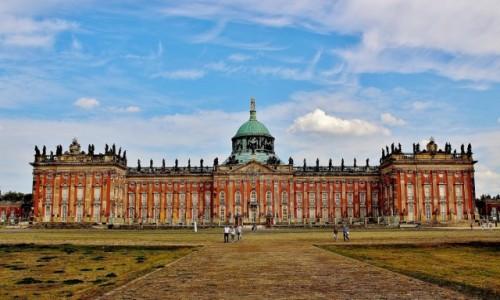 NIEMCY / Brandenburgia / Poczdam / Nowy Pałac z 1769 roku