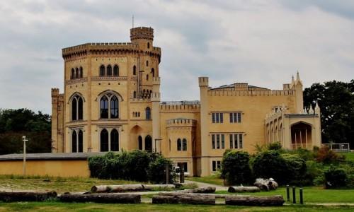 NIEMCY / Brandenburgia / Poczdam / Zamek Babelsberg z 1849 roku